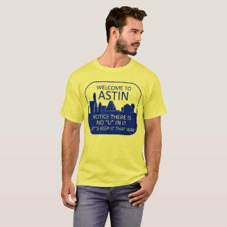 T-shirts Boa vinda a Astin (cores claras)