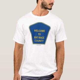 T-shirts Boa vinda ao condado da competição desenfreada