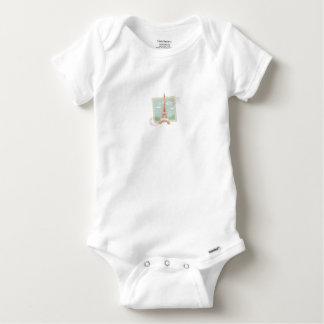 T-shirts Body Algodão Bebé Paris