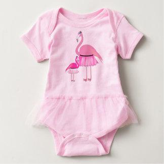 T-shirts Bodysuit do tutu do bebê do flamingo