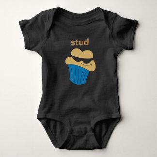 T-shirts Bodysuit personalizado muffin do bebê do parafuso