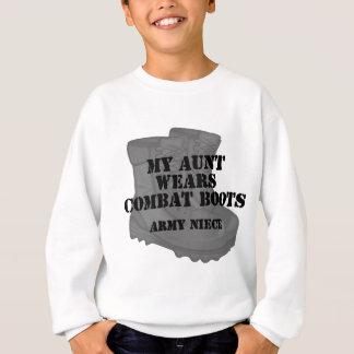 T-shirts Botas da tia combate da sobrinha do exército