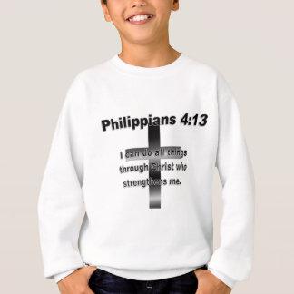 T-shirts Branco preto dos Philippians 4_13