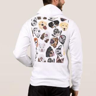T-shirts Cães do teste padrão da ilustração