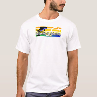 T-shirts caiaque do mar só pequeno