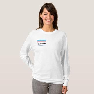 T-shirts Camisola fêmea dos pronomes