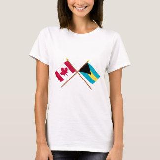 T-shirts Canadá e bandeiras cruzadas Bahamas