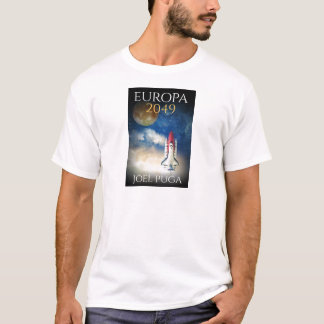 """T-shirts Capa do livro do """"Europa 2049"""" por Joel Puga"""