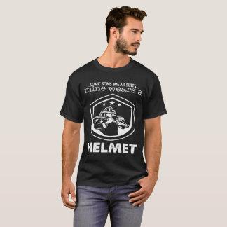 T-shirts Capacete do desgaste da mina dos ternos do