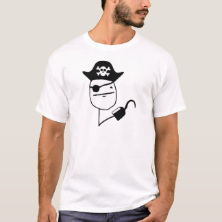 T-shirts Cara de póquer do pirata - meme