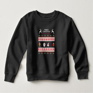 T-shirts Caráter feio da camisola do Feliz Natal
