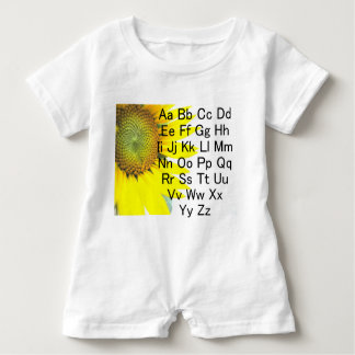 T-shirts Carta do alfabeto do girassol