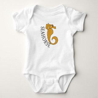 T-shirts Cavalo marinho - Bodysuit do jérsei do bebê