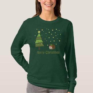 T-shirts Cena do Natal do ouriço