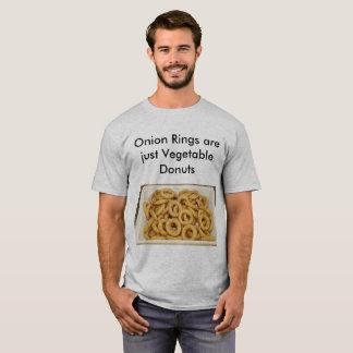 T-shirts Chalaças da comida dos anéis de cebola