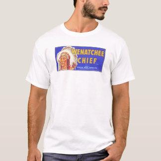 T-shirts Chefe de Wenatchee - etiqueta da caixa da fruta do