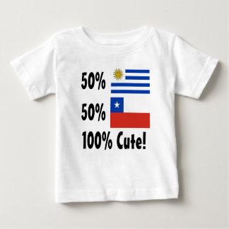 T-shirts Chileno 100% do Uruguayan 50% de 50% bonito