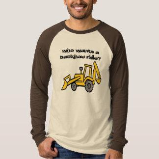 T-shirts construction_clipart_backhoe, que quer um backh…