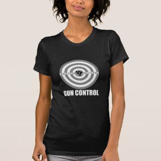 T-shirts controlo de armas do bullseye