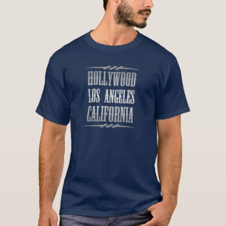 T-shirts Cor de prata de Hollywood Los Angeles Califórnia