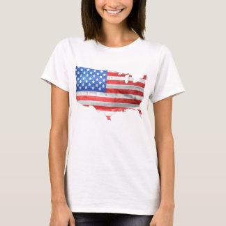 T-shirts Coração americano