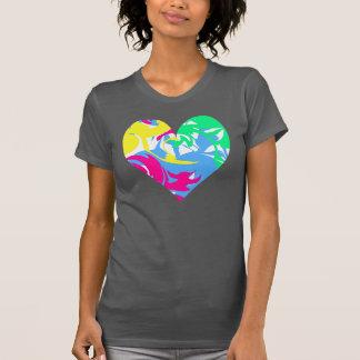 T-shirts coração do redemoinho