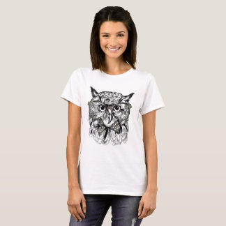 T-shirts Coruja do hipster