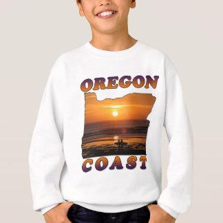 T-shirts Costa de Oregon: Surfistas no por do sol