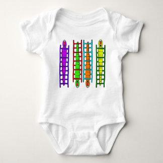 T-shirts Creeper bonito das crianças das lagartas