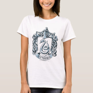 T-shirts Crista de Harry Potter | Slytherin - azul de gelo