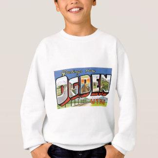T-shirts Cumprimentos de Ogden, Utá! Cartão retro