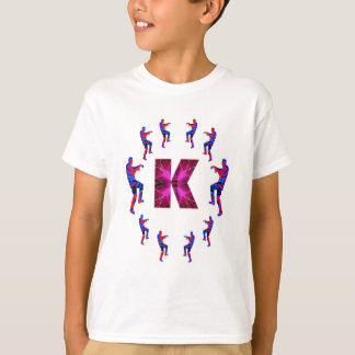 T-shirts Dança do ZOMBI com alfabetos: A a Z