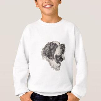 T-shirts Desenho do retrato do perfil do cão de St Bernard
