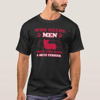 T-shirts Design da raça do cão do terrier de Skye