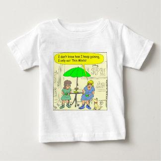 T-shirts dieta s3 de desenhos animados finos das hortelã
