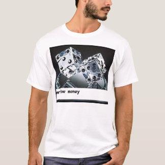 T-shirts dinheiro do fluxo