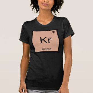 T-shirts Do elemento conhecido da química de Kieran mesa