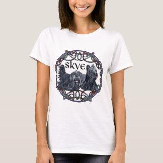 T-shirts Dois terrier de Skye no círculo celta