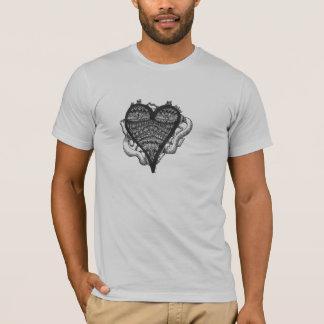 T-shirts Doodle do coração