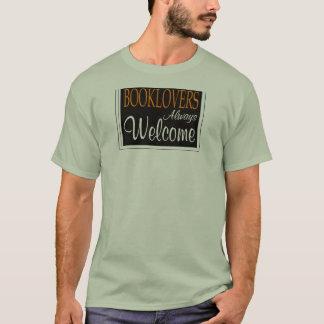 T-shirts Dos Booklovers sinal de boas-vindas sempre