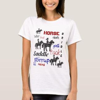 T-shirts Equitação, palavras inspiradores, esporte