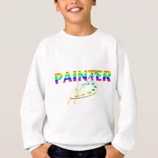 T-shirts Escovas da paleta e de pintura do pintor