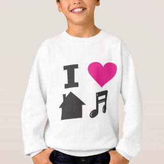 T-shirts Eu amo a música da casa
