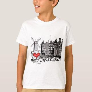 T-shirts Eu amo Amsterdão