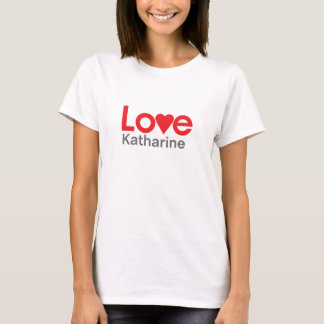 T-shirts Eu amo Katharine