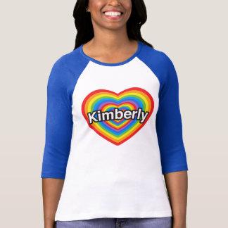 T-shirts Eu amo Kimberly. Eu te amo Kimberly. Coração