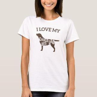T-shirts Eu amo meu laboratório do chocolate