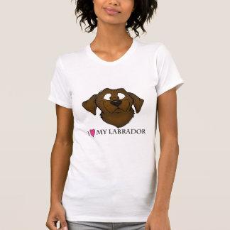 T-shirts Eu amo meu Labrador