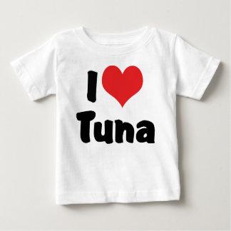 T-shirts Eu amo o atum do coração
