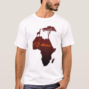 Camiseta Vermelha com Mapa da Africa